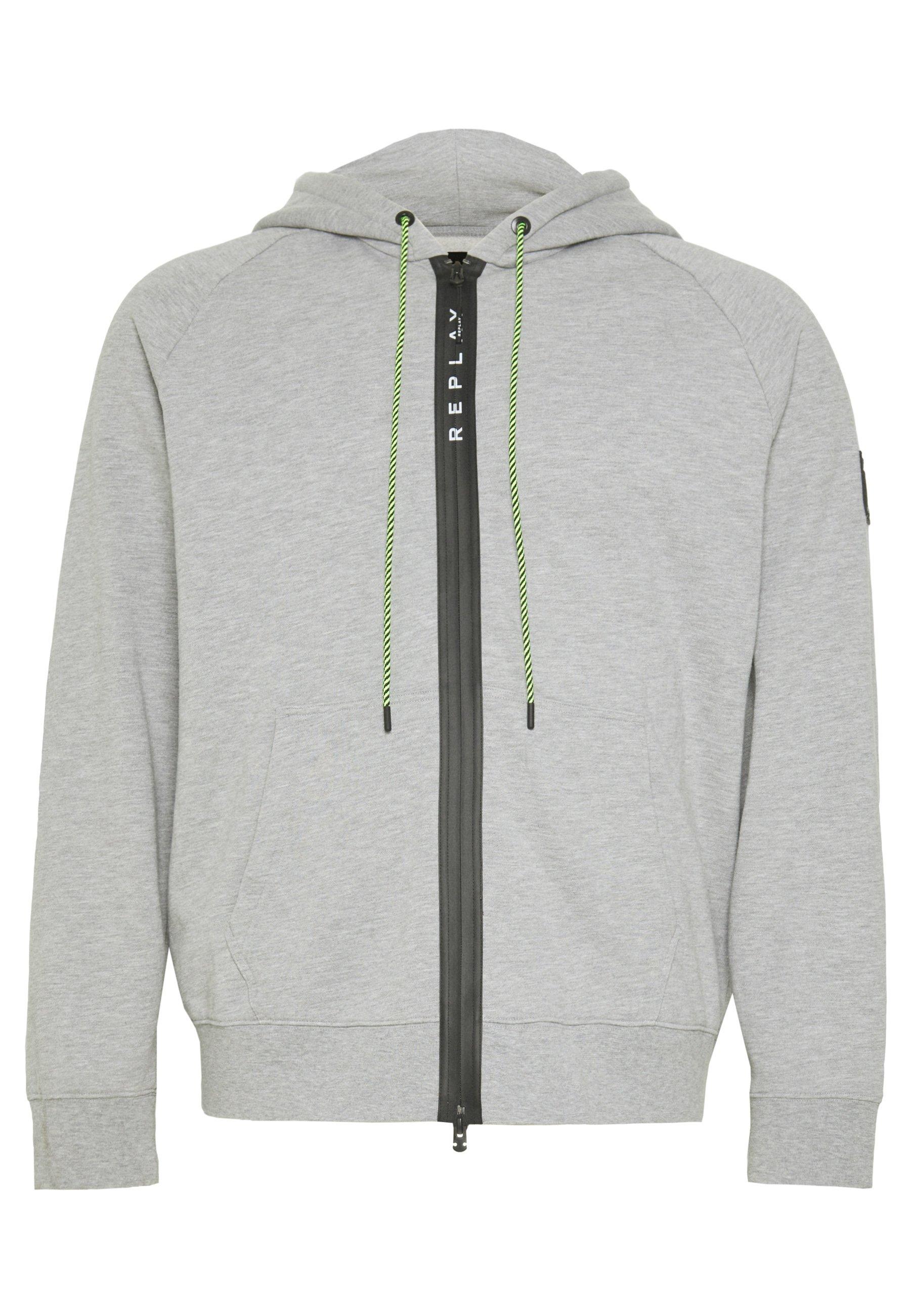 Replay Plus veste en sweat zippée - light grey melange