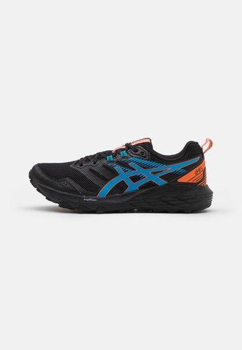GEL SONOMA 6 - Běžecké boty do terénu - black/digital aqua