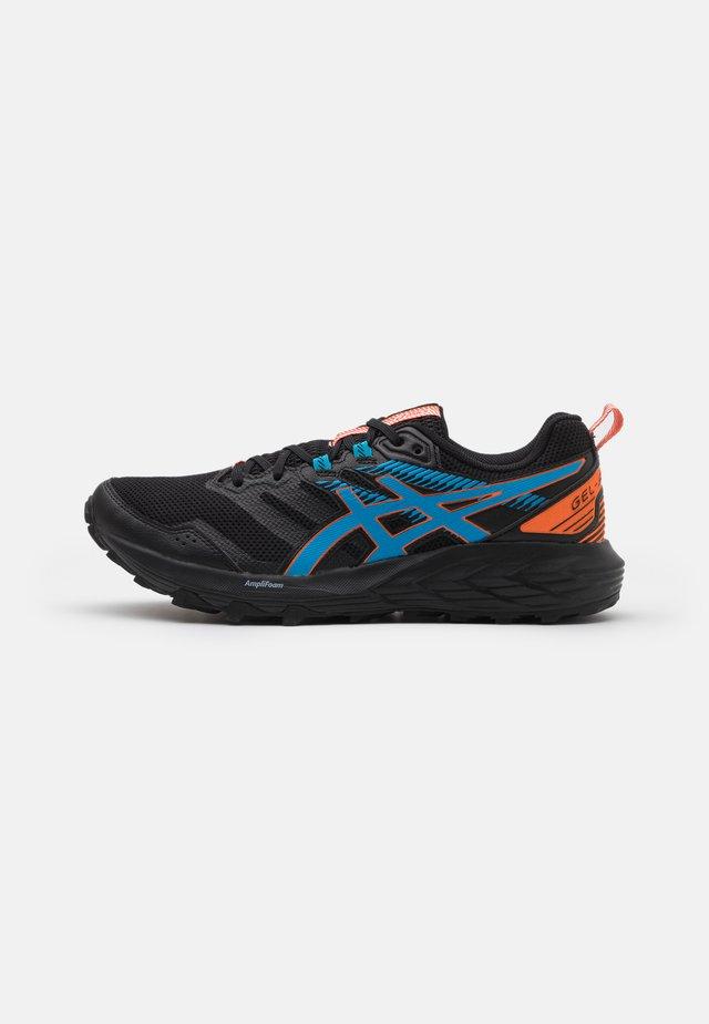 GEL-SONOMA 6 - Běžecké boty do terénu - black/digital aqua