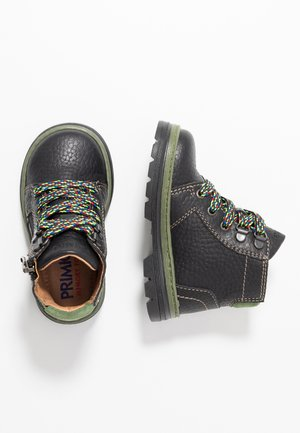 Lace-up ankle boots - nero/cactus