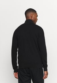 Selected Homme - SLHBERG HALF ZIP  - Stickad tröja - black - 2