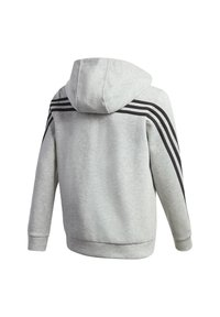 adidas Performance - 3-STREIFEN DOUBLEKNIT KAPUZENJACKE - Zip-up hoodie - grey - 1