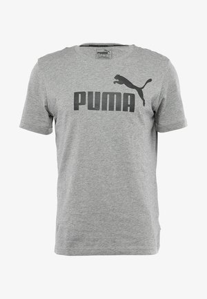LOGO TEE - Print T-shirt - medium gray heather