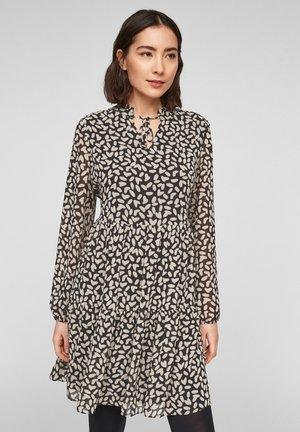 MIT VOLANTS - Day dress - black dot love