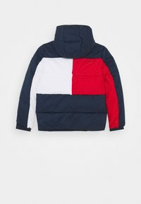 Tommy Hilfiger - FLAG HOODED JACKET - Winter jacket - blue - 1