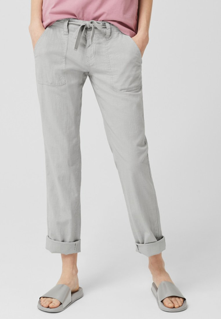 Q/S designed by - Trousers - light grey