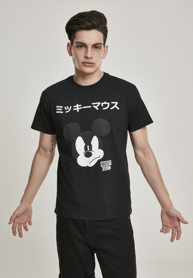 MICKEY JAPANESE - Print T-shirt - black