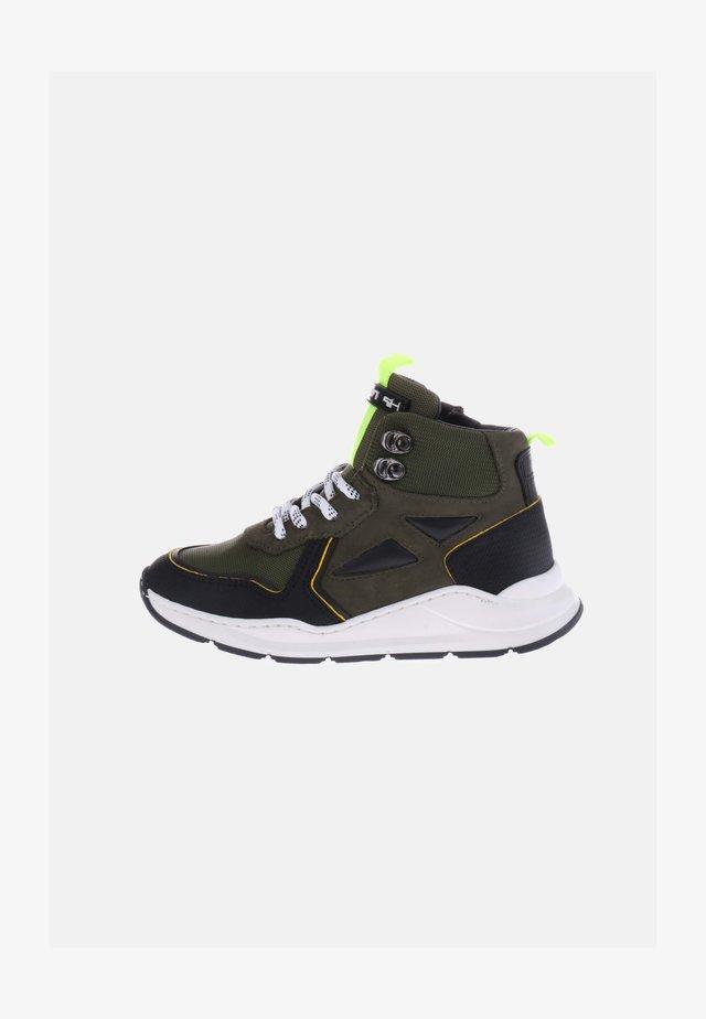 Sneakers hoog - grün