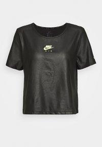 Nike Performance - Triko spotiskem - black/volt - 3