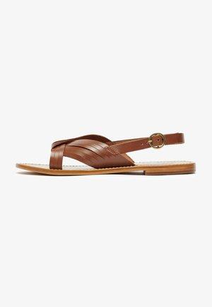 SORA  - Sandals - cognac