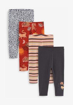 4 PACK  - Leggings - Trousers - red