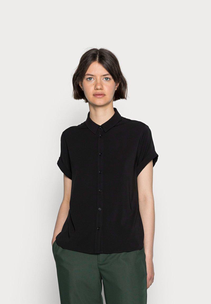 Samsøe Samsøe - MAJAN - Button-down blouse - black