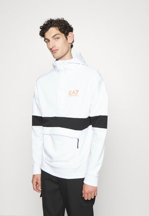 Sweatshirt - white/black/orange