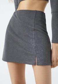 PULL&BEAR - A-line skirt - mottled dark grey - 3