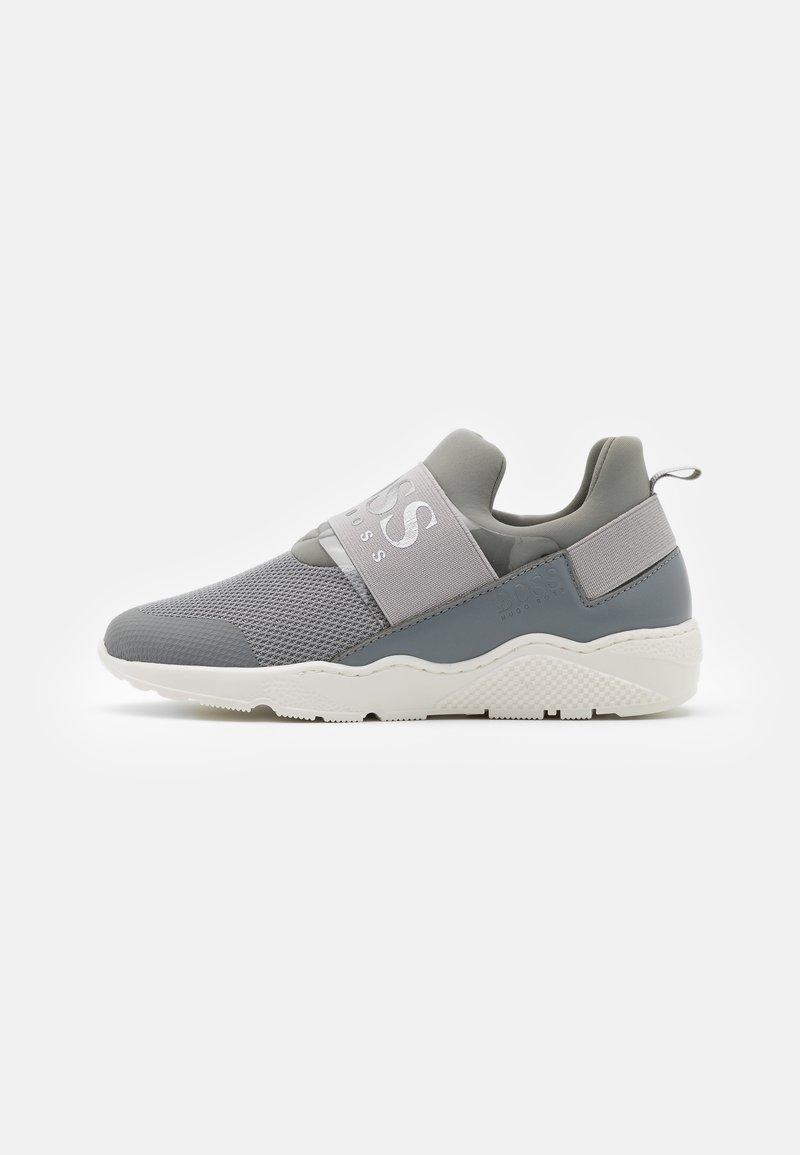 BOSS Kidswear - TRAINERS - Slip-ons - medium grey