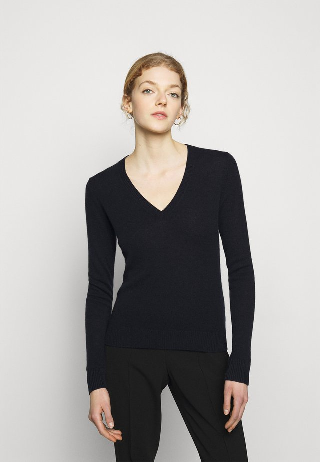 VNECK FEATH - Jersey de punto - deep navy