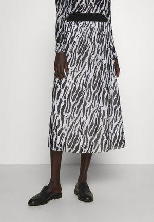 THORA VIOL LONG SKIRT - Jupe trapèze - black