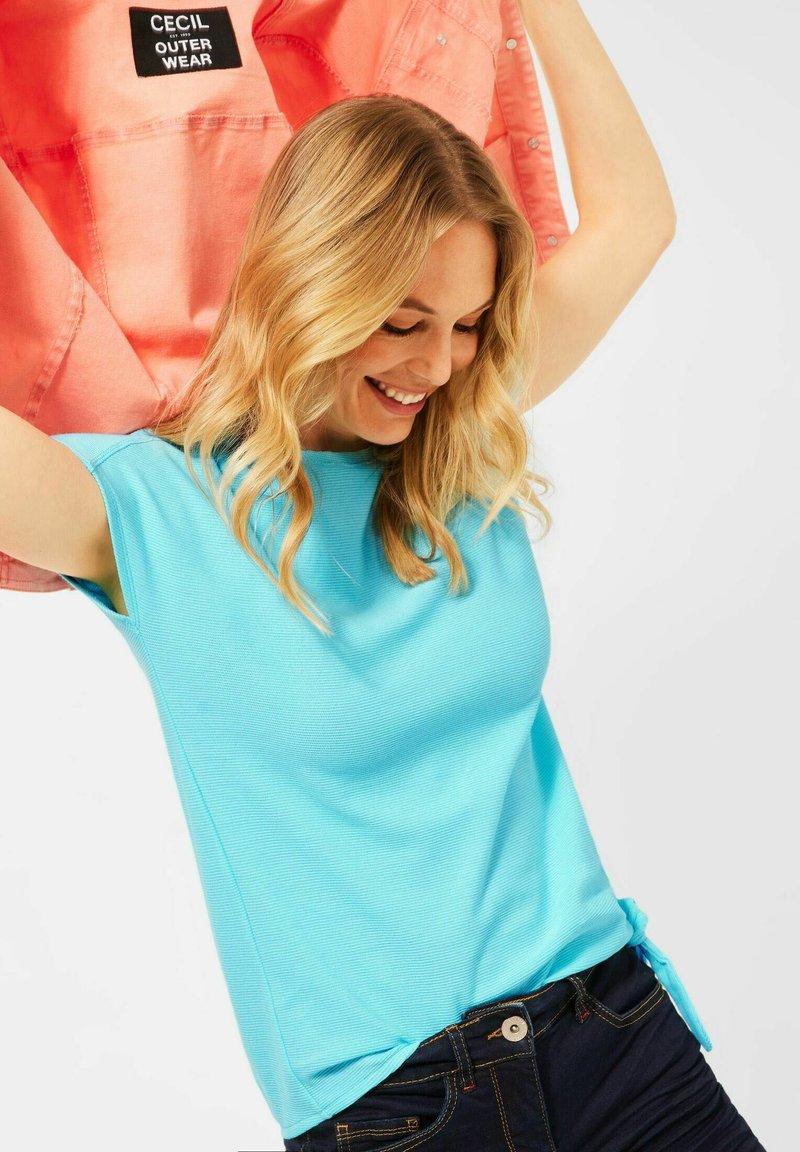 Cecil - Basic T-shirt - türkis