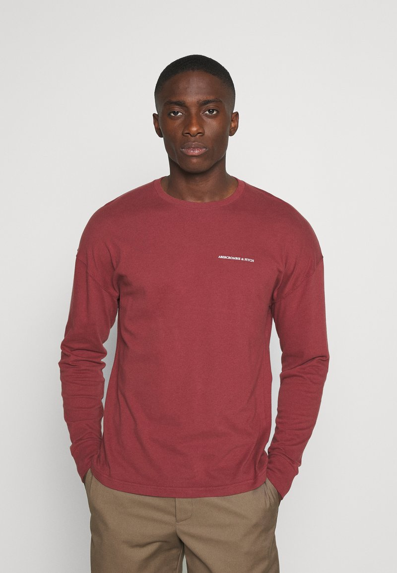 Abercrombie & Fitch - EXPLODED - Long sleeved top - burg