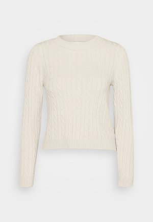 ONLMEGAN CABLE - Strickpullover - pumice stone/melange