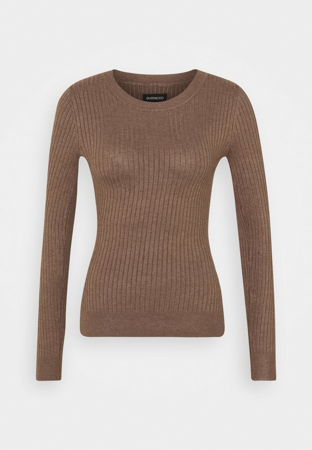 Jumper - light brown melange