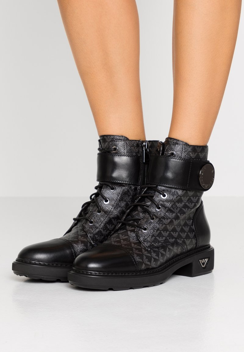 Emporio Armani - Lace-up ankle boots - black