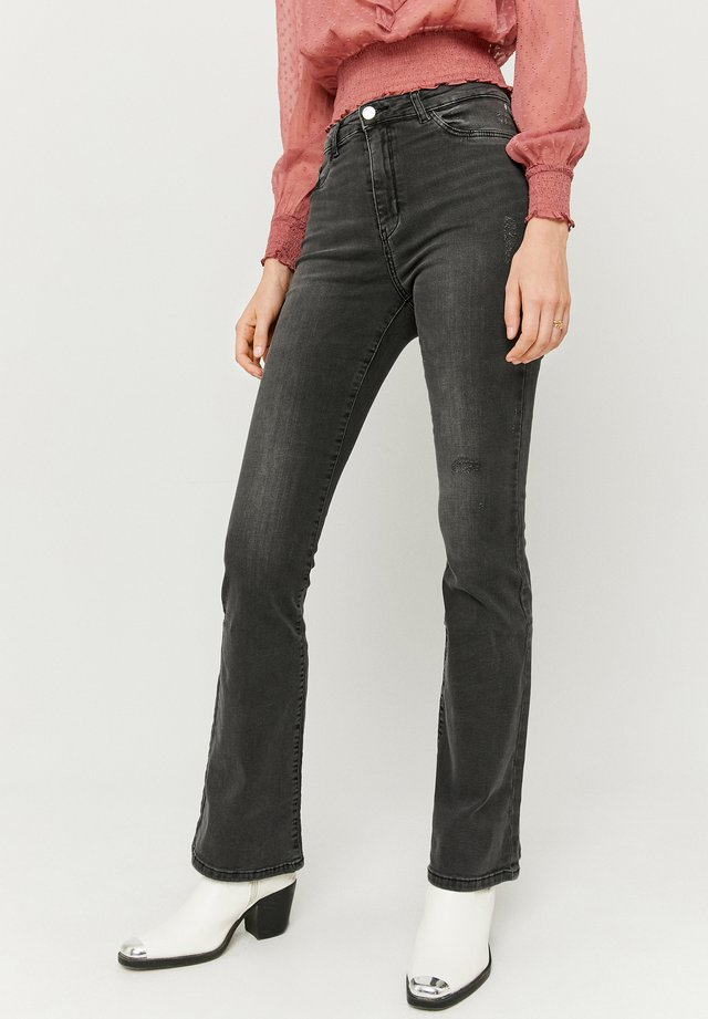 Flared Jeans - blk