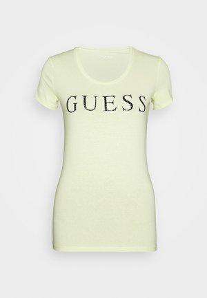 Print T-shirt - yellow glow