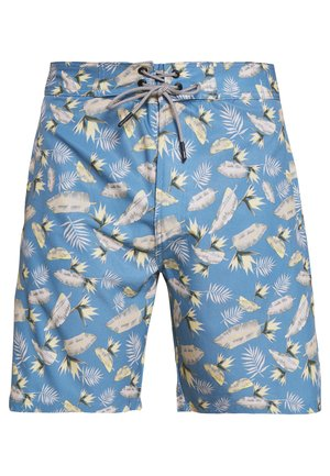 IALOHA SURFER SWIM FLOWER - Swimming shorts - blue heaven
