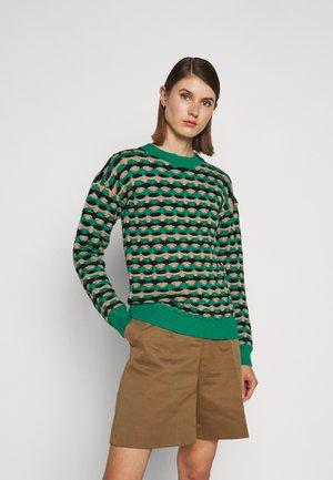 GEOMETRIC CREWNECK - Sweter - spearmint green
