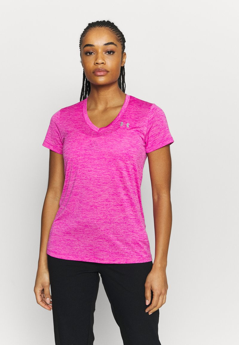 Under Armour - TECH TWIST - Camiseta básica - meteor pink