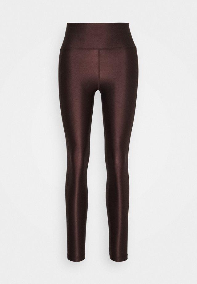 CROPPED GLOSS LEGGING - Collants - maroon