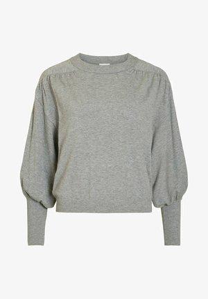 MIT LANGEN ÄRMELN STEHKRAGEN - Pullover - medium grey melange
