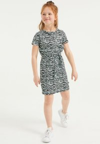WE Fashion - MET DESSIN EN STRUCTUUR - Jersey dress - multi-coloured - 1