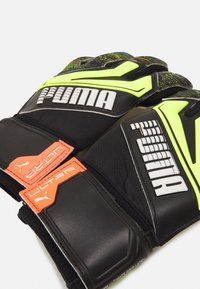 Puma - ULTRA GRIP 1 JUNIOR UNISEX - Goalkeeping gloves - black/yellow alert - 2