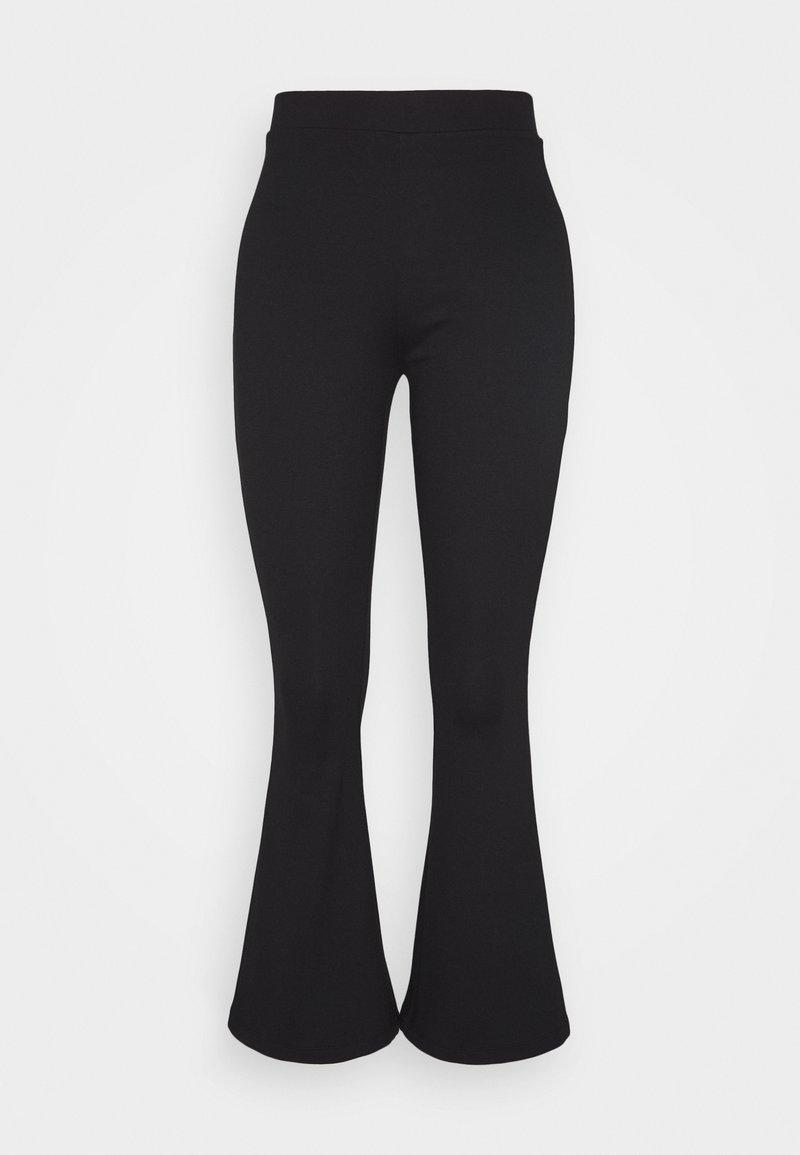 Even&Odd Petite - SEMI FLARED LEGGINGS  - Leggings - Trousers - black