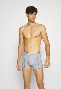 Schiesser - 2 PACK  - Pants - dark blue/mottled grey - 0