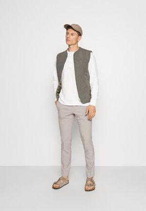 SLHBAKER SPLIT NECK 2 PACK - Long sleeved top - black/egret
