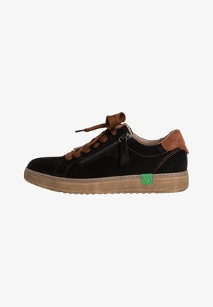 VEGAN - Sneakers laag - black/cognac