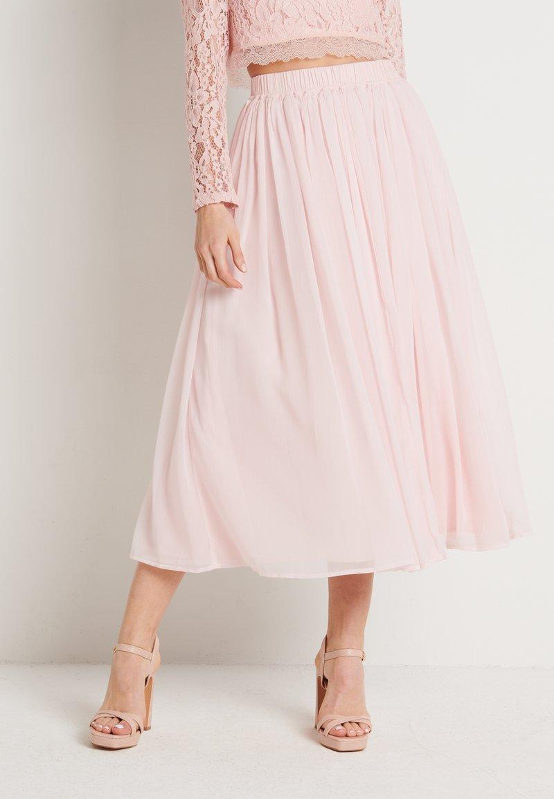 NA-KD - ZALANDO X NA-KD MIDI SKIRT - Áčková sukně - dusty pink