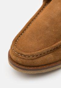 Zign - LEATHER - Volnočasové šněrovací boty - cognac - 5