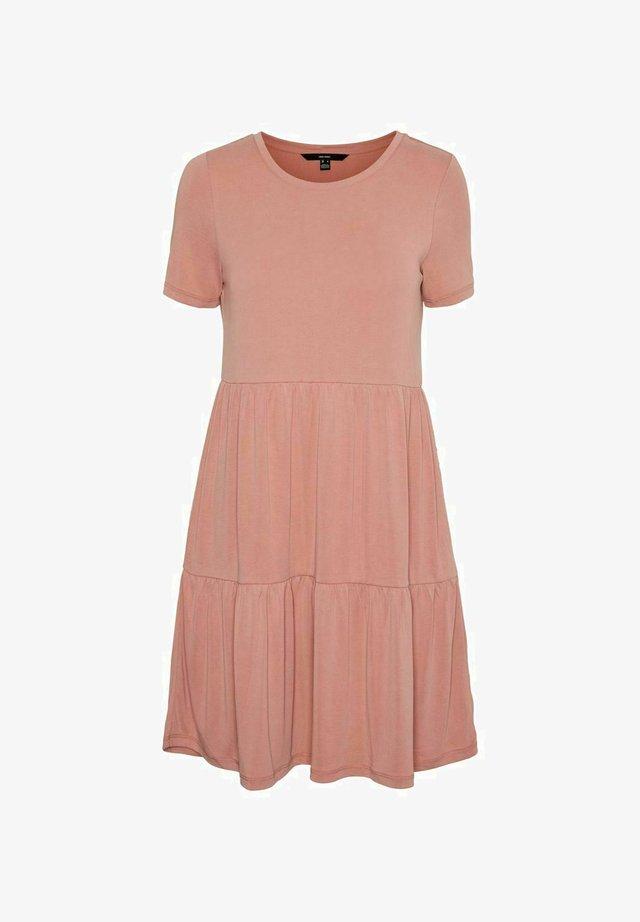 SHORT SLEEVE - Jersey dress - old rose