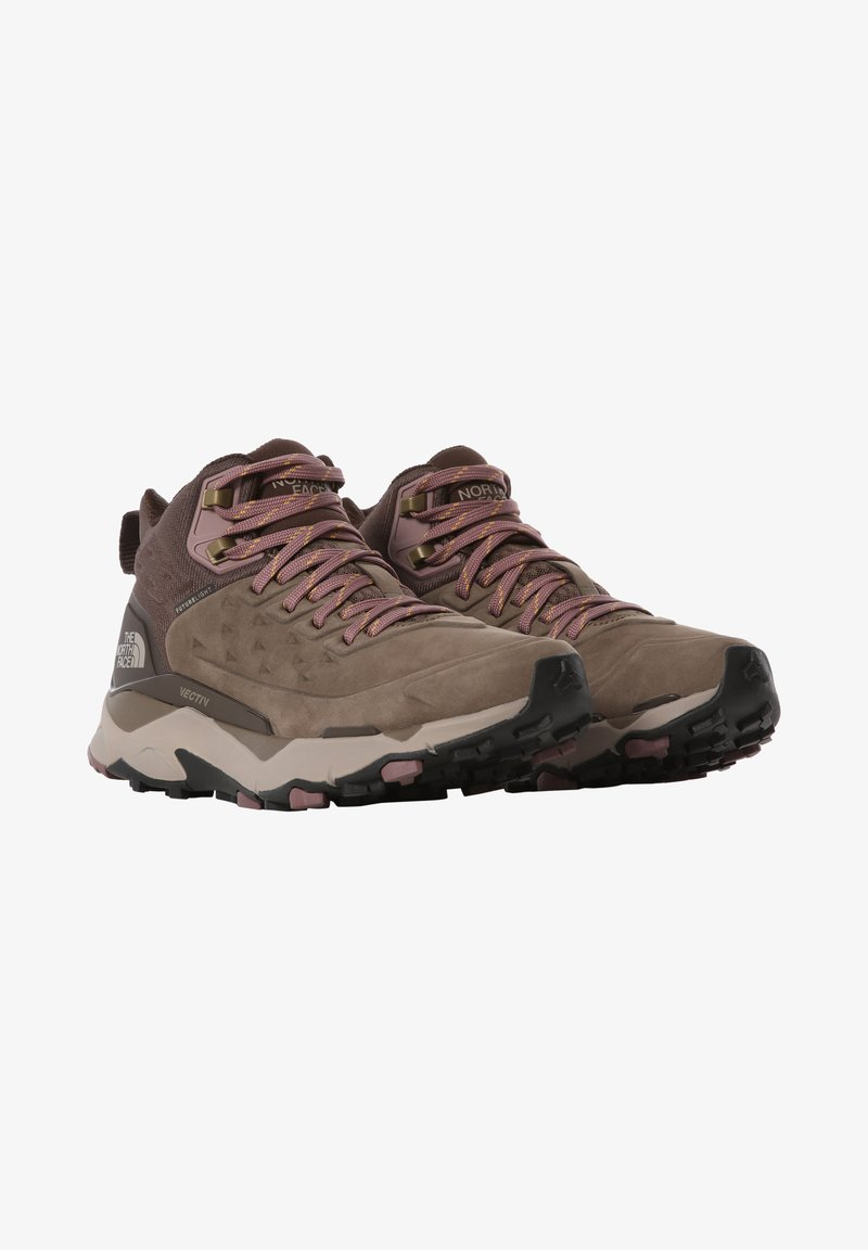 The North Face - VECTIV EXPLORIS MID FUTURELIGHT - Hiking shoes - BIPARTISAN BROWN/COFFEE BROWN