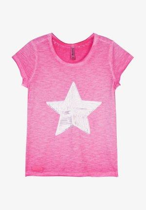 GIRLS PAILLETTEN STERN - Print T-shirt - pink