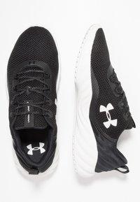 Under Armour - CHARGED WILL - Obuwie do biegania treningowe - black/white - 1