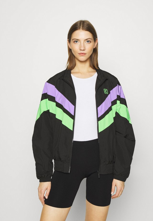 TAPE BLOCK TRACKJACKET  - Training jacket - blacklilacgreen