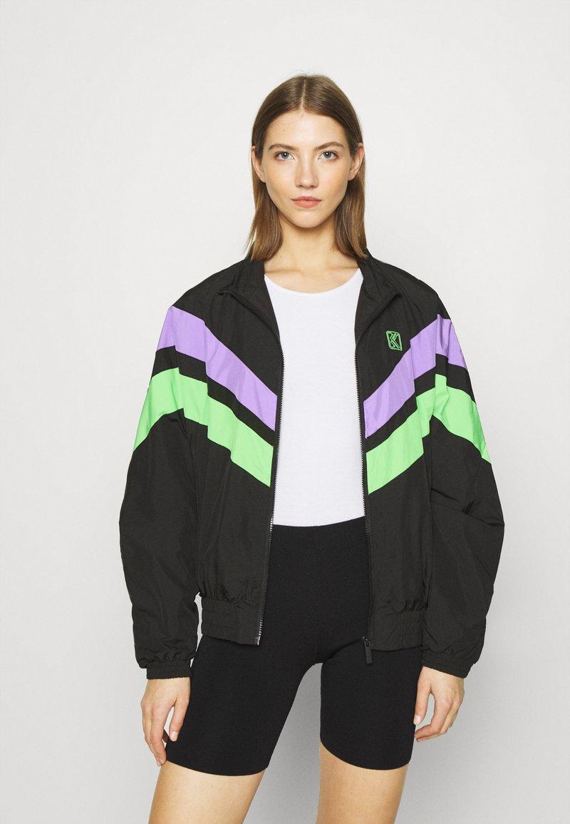 Karl Kani - TAPE BLOCK TRACKJACKET  - Training jacket - blacklilacgreen