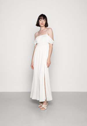 OFF SHOULDER RECYCLED DRESS - Maxi dress - white