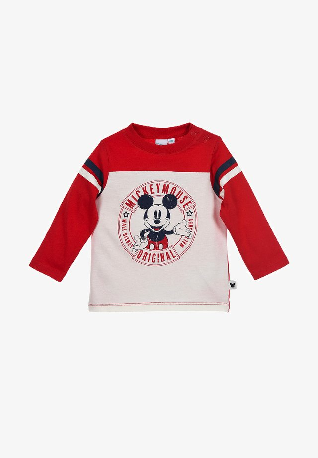 DISNEY MICKEY MOUSE - Long sleeved top - rot