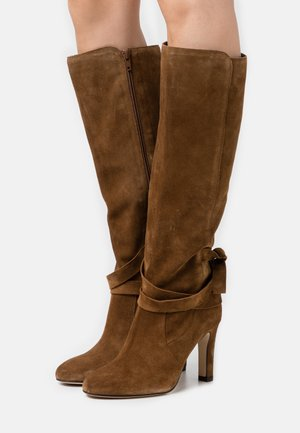 AGNATALI - High heeled boots - cannelle